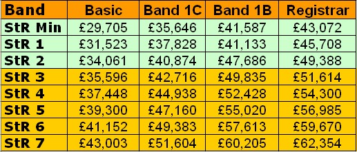 GP ST Payscales including GP Registrar salary 2012 - 2013 (1/2)